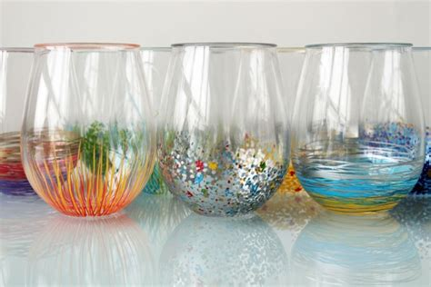acrylic paint on glass add a pop of color to your glassware brit co