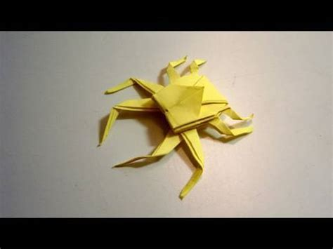 how to make origami spider origami spider crab