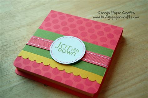 kerry paper crafts another great tutorial for post it note holders on
