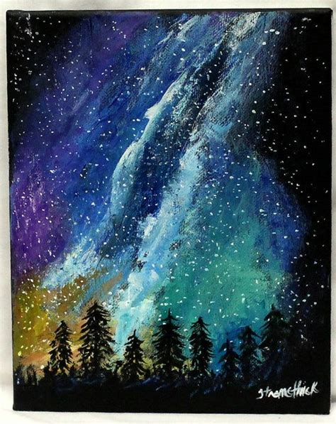 acrylic painting space best 25 forest painting ideas on