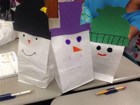 paper bag snowman craft paper bag snowman craft memes