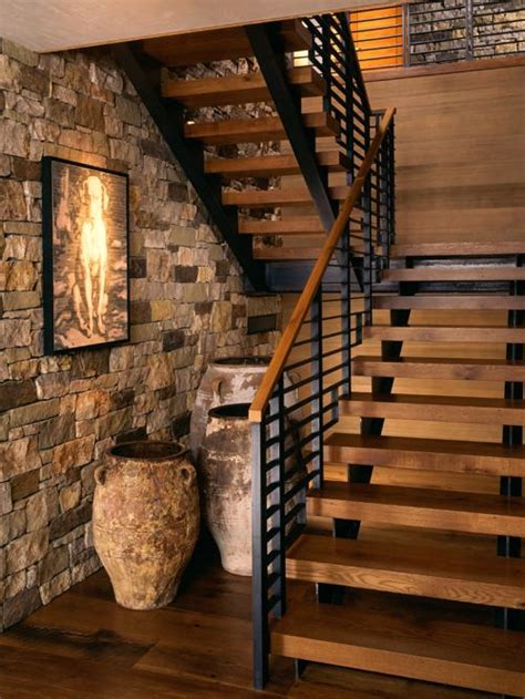 Houzz Basement Ideas by Rustic Staircase Ideas Designs Amp Remodel Photos Houzz