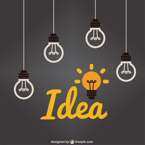 lights ideas light bulb idea vector free