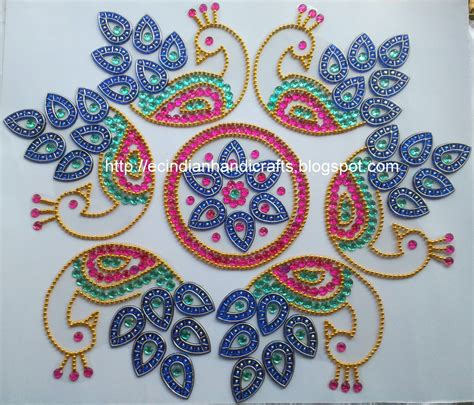 rangoli craft for easy crafts explore your creativity kundan rangolis