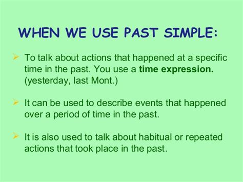 can use past simple