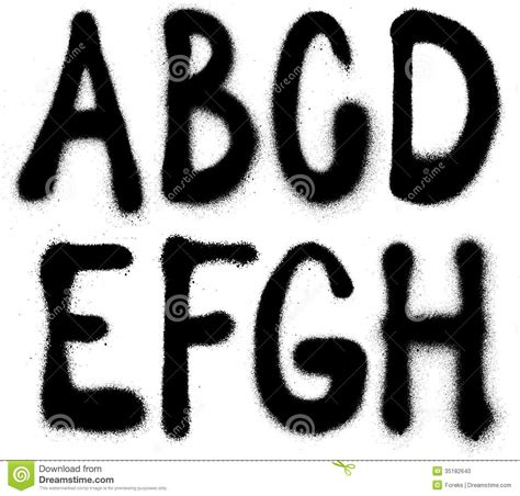 spray paint font graffiti spray paint font type part 1 alphabet stock