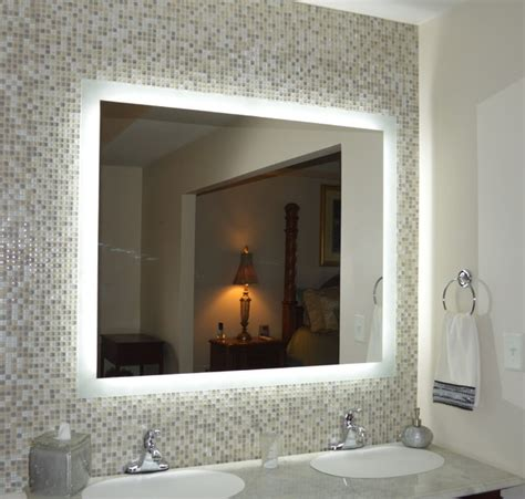 wide bathroom mirror lighted mirrors for every bath mam94840 48 quot wide x 40 quot