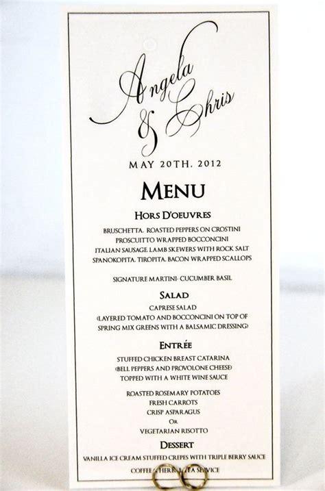 how to make menu cards wedding menu card tea length calligraphy style