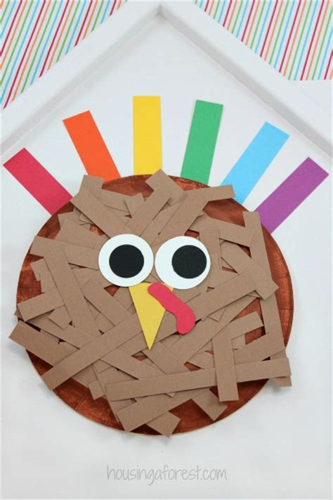 paper plate turkey craft for paper plate turkey housing a forest