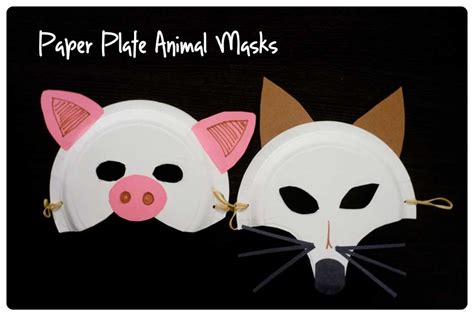 paper plate mask craft paper plate animal masks activities more