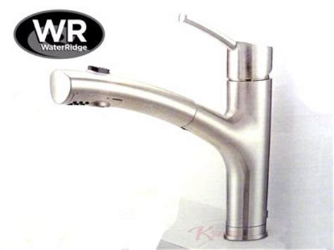 waterridge kitchen faucet new waterridge brushed nickel pull out kitchen faucet fp2b0000bn ebay