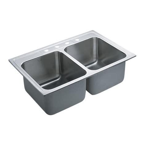 kitchen sinks drop in shop moen commercial 37 9 in x 23 7 in stainless steel