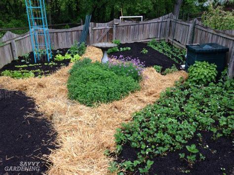 straw mulch vegetable garden digging into mulches types of landscape mulch for your garden