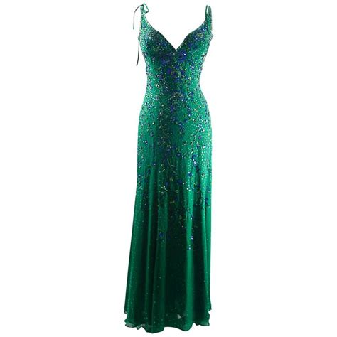 vintage beaded dresses escada vintage mermaid silk beaded evening dress gowm at