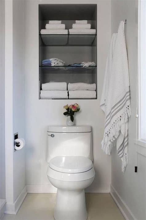 recessed shelving bathroom recessed shelves toilet transitional bathroom