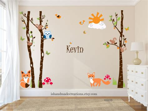 forest nursery wall decals forest wall decal trees for nursery wall decal vinyl wall