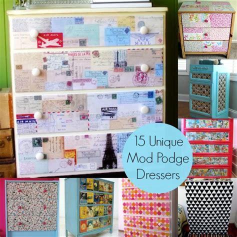 unique decoupage ideas decoupage a dresser 15 unique ideas mod podge rocks