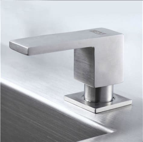 stainless steel soap dispenser for kitchen sink square stainless steel soap dispenser fit for kitchen sink
