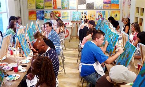 paint nite ta groupon byob painting class the palette groupon