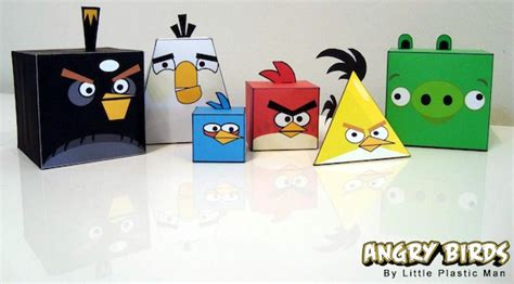 origami angry birds make your own angry birds origami style mactrast