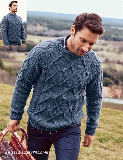 free knitting patterns for mens cardigan sweaters s cable sweater knitting pattern free
