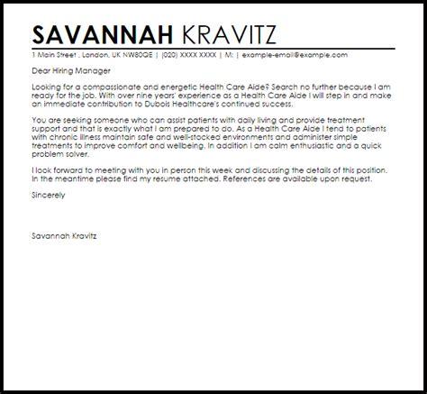 health care aide cover letter sample letter samples