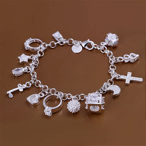 free jewelry free shipping 925 silver bracelet fashion jewelry charm