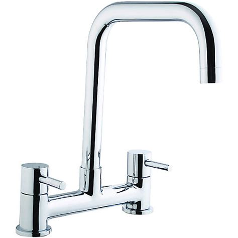 sink taps mixer for kitchen wickes seattle bridge kitchen sink mixer tap chrome