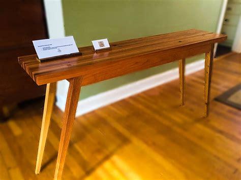 mid century modern sofa table buy a handmade mid century modern reclaimed oak and cherry