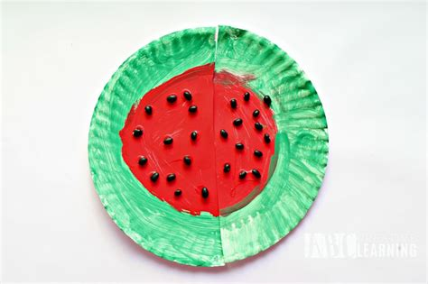 simple paper plate crafts easy and simple paper plate watermelon craft project