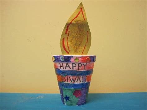 diwali paper craft diwali diya craft paper quot quot in plant pot classroom