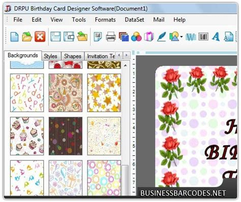 program to make cards page 79 of application software business application