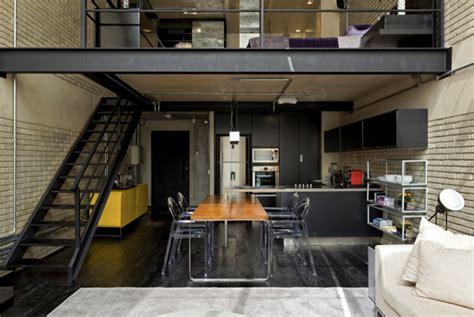 loft industrial industrial loft design with brick like walls digsdigs