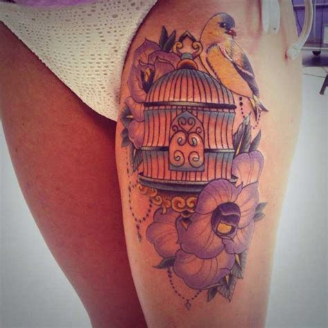 47 delightful bird cage tattoos that will absolutely make