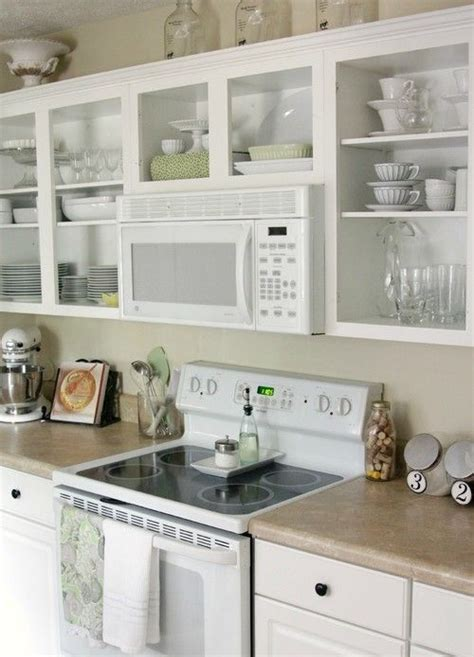 kitchen cabinet shelving the range microwave and open shelving kitchens