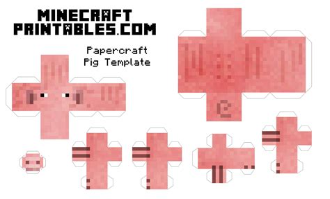 minecraft paper crafts 8 best images of printable minecraft paper crafts