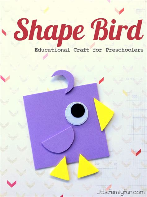 Family Shape Bird Educational Craft