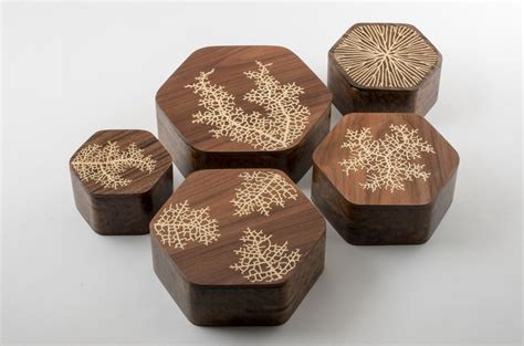 inlay woodworking experiments with generative wood inlay nervous system