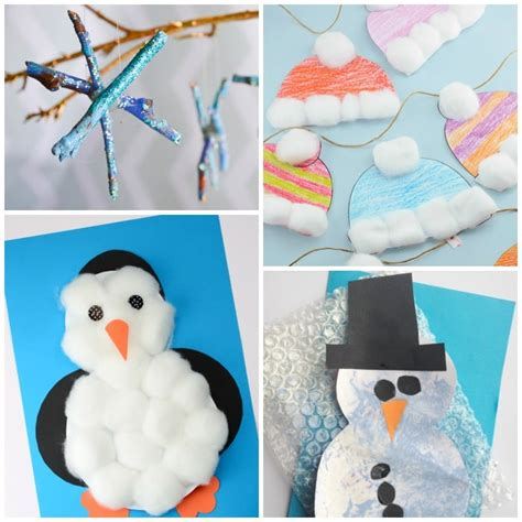 easy winter crafts simple winter crafts for toddlers easy peasy and