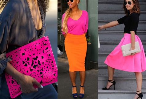 what color goes with pink colors that go with neon pink clothes ideas