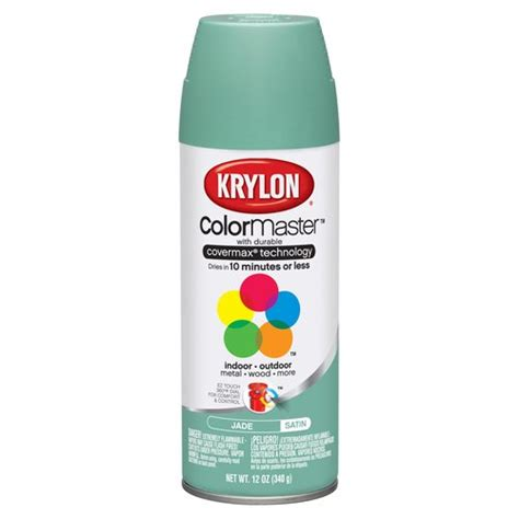 spray paint krylon krylon colormaster jade satin spray paint other home