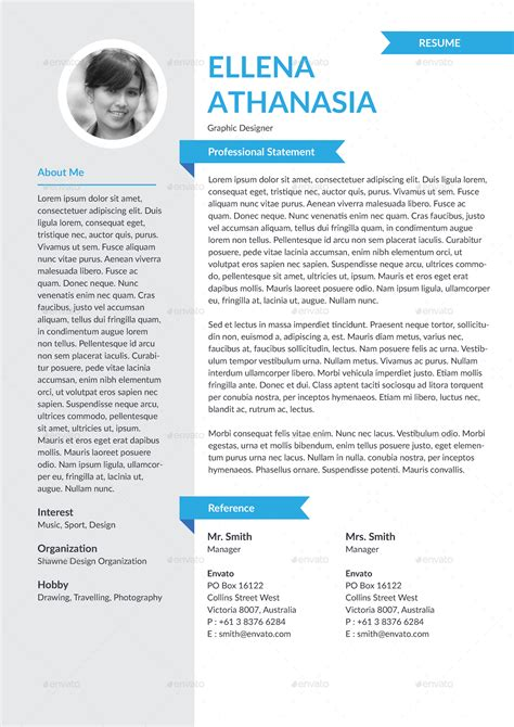personality resume template by hermeneutic graphicriver