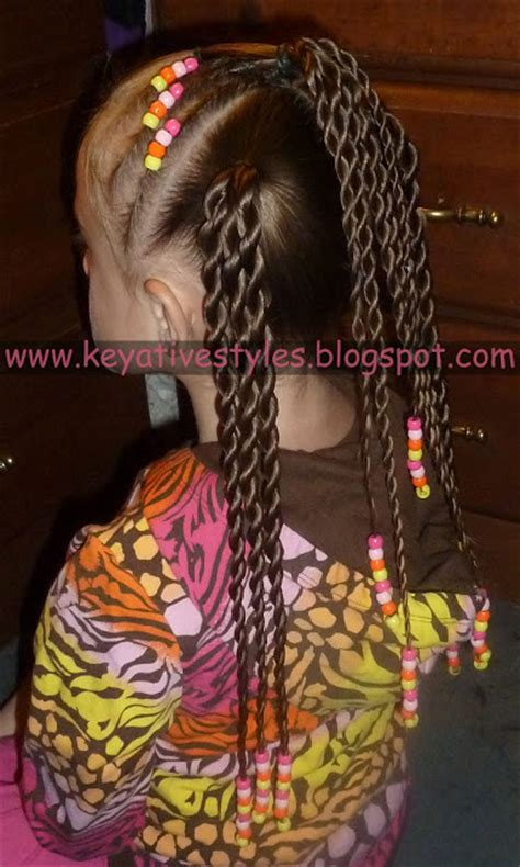 how to bead hair with a beader keyative styles flat twists with into rope twist ponies