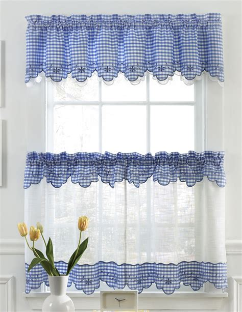 curtains for the kitchen provence kitchen curtains blue lorraine sheer