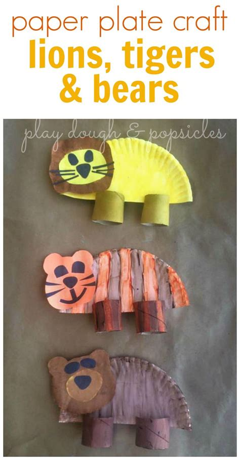 tiger paper plate craft lions tigers bears oh my paper plate craft animal