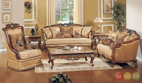 wood living room set traditional formal living room sofa set medium cherry