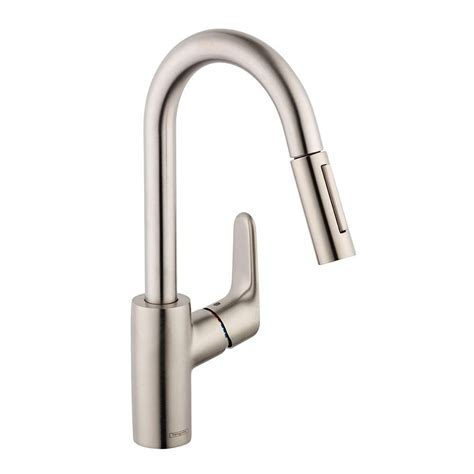 hansgrohe metro kitchen faucet hansgrohe nickel pull faucet nickel hansgrohe pull