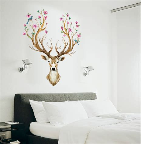 deer stickers for wall animal deer diy vinyl wall stickers for rooms