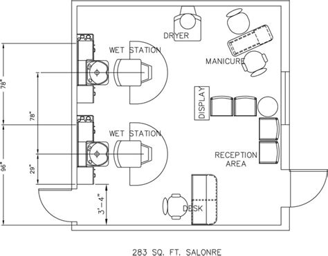 floor plan for hair salon salon floor plan design layout 283 square foot