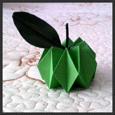 origami apple papercraftsquare